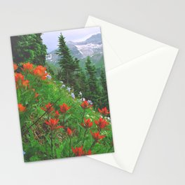Wildflowers above Ouray in the San Juan Mountains of Colorado Stationery Cards
