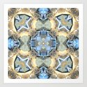 Reflections of Blue And Gold by perkinsdesigns