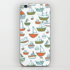 Hey Little Boat iPhone & iPod Skin