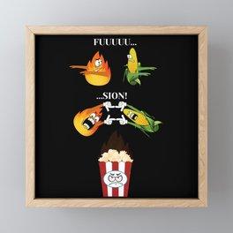 Feuer und Mais zu Popcorn, fusion Framed Mini Art Print