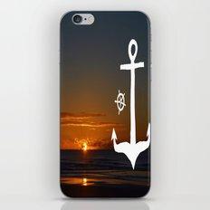 Anchors at Sea iPhone & iPod Skin