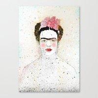 frida kahlo Canvas Prints featuring Frida Kahlo  by Marttala