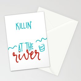 Killin My Liver At The River Stationery Cards