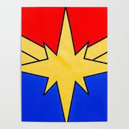 CaptainMarvel Old School Poster