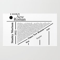 The Times New Roman Rug