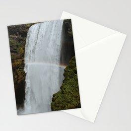 Rainbow over Iceland's Skógafoss Stationery Cards