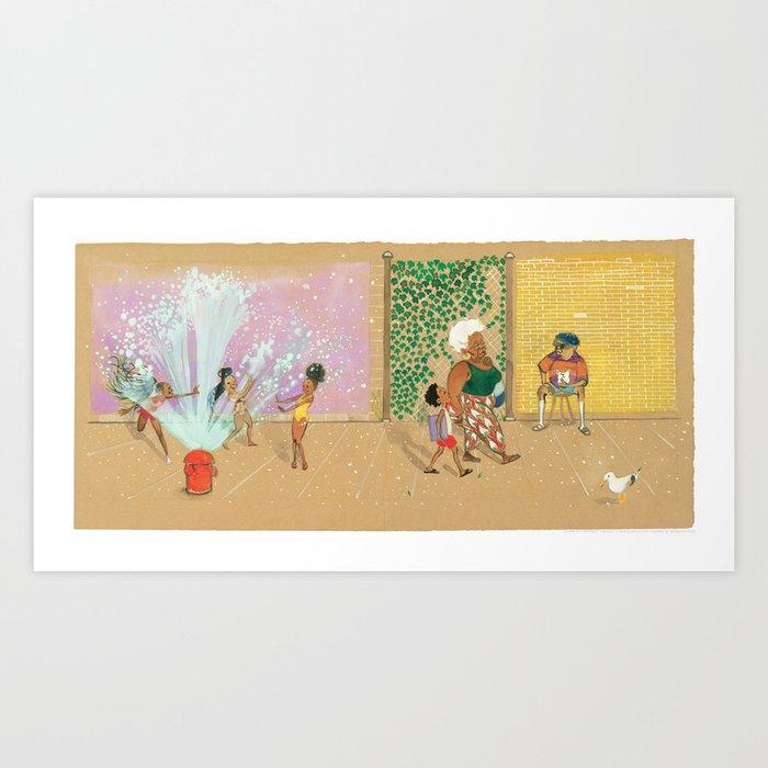 """Did you see the mermaids?"" Art Print"
