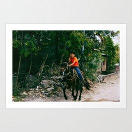 Nicaraguan riding. Art Print
