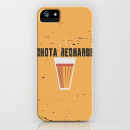 Funny Chai Hindi Quote iPhone Case