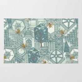 hexagon city Rug