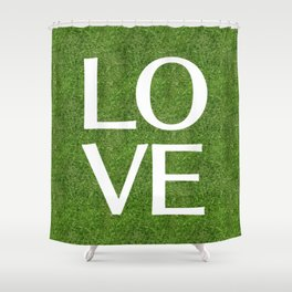 LOVE alphabet on the grass Shower Curtain
