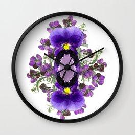 Birth Stone & Flower Print/FEBRUARY Wall Clock