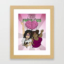 Zombie Fabulous Framed Art Print