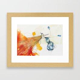 Blue Tail Bun Hummingbird Framed Art Print