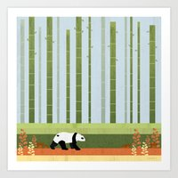 bamboo Art Prints featuring Bamboo by Kakel