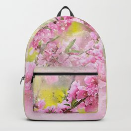 Flowers-pink, purple and yellow Backpack