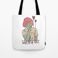 Waiting for pizza Tote Bag