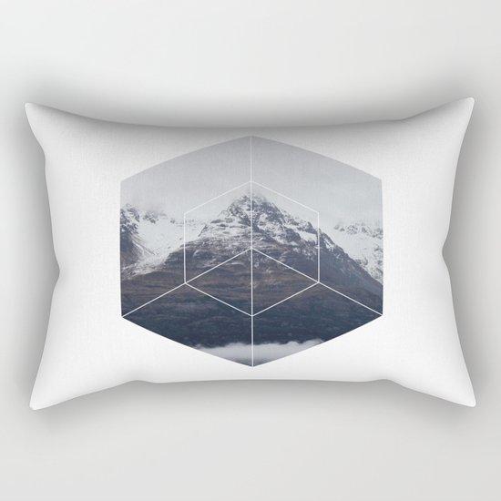 Snow Mountain - Geometric Photography Rectangular Pillow