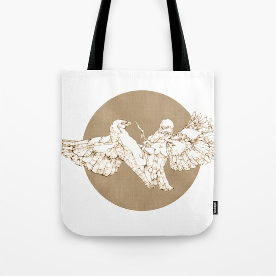 In which birds fight in a different colour Tote Bag