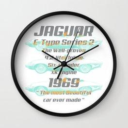 1969 Jaguar E-Type Series 2 Wall Clock