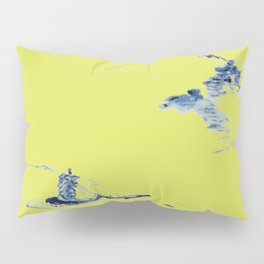 Japanese Mountains remix in lime green Pillow Sham