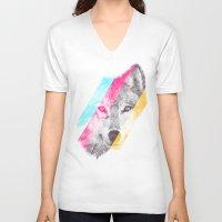 eric fan V-neck T-shirts featuring Wild 2 by Eric Fan & Garima Dhawan by Garima Dhawan