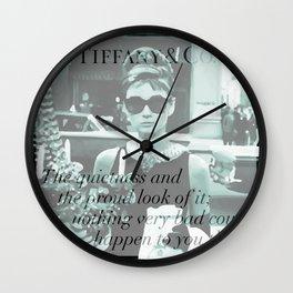 Breakfast at Tiffany's I Wall Clock