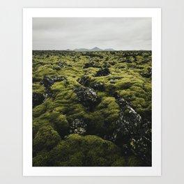 Moss (Iceland) Art Print