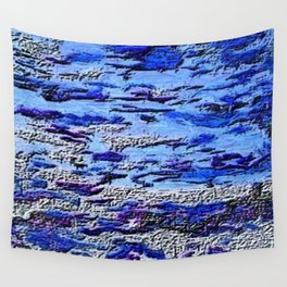 Blue Dream Abstract Painting  Wall Tapestry