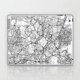 Kuala Lumpur Map White Laptop & iPad Skin