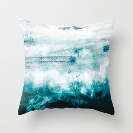 Blue ocean Throw Pillow