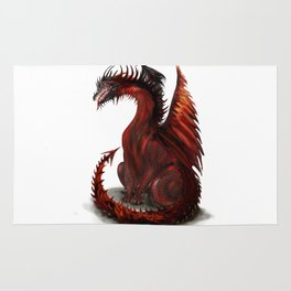 Challenger Lone Dragon Abstract Rug