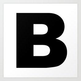 'B' Art Print