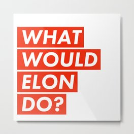 WHAT WOULD ELON DO? Metal Print