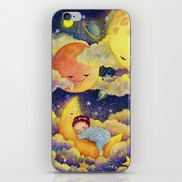 Sleeping in the moonlinght iPhone Skin