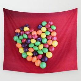 Skittles Heart Wall Tapestry