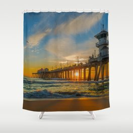Cold Sunset Shower Curtain