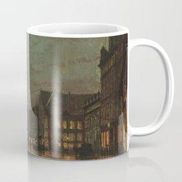 Boar Lane, Leeds, by lamplight Coffee Mug