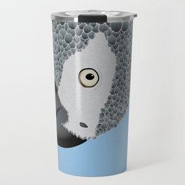 African Grey Parrot [ON SKY BLUE] Travel Mug