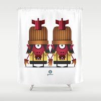 gemini Shower Curtains featuring GEMINI by Angelo Cerantola