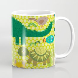 Animals Australia snake, turtle, crocodile, alliagtor, kangaroo, dingo Coffee Mug