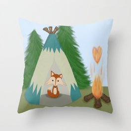 The Lone Fox Throw Pillow
