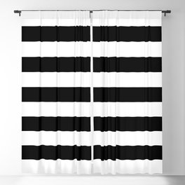 eb779f7ae7f00 Black and White Medium Stripes Pattern Blackout Curtain