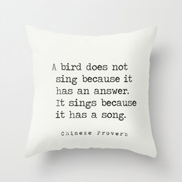 Chinese proverb 3 Throw Pillow