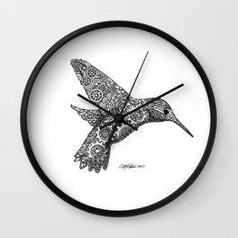 Clockwork Hummingbird Wall Clock