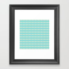 Circular Cyan Pattern Framed Art Print