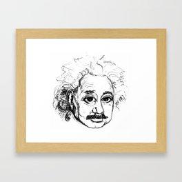 Chibi Einstein v2 Framed Art Print