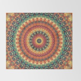 Mandala 254 Throw Blanket