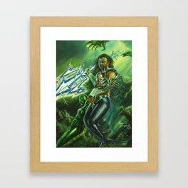 Warrior of the Deep Framed Art Print