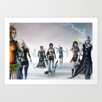 final fantasy Art Prints featuring Final Fantasy by ssst